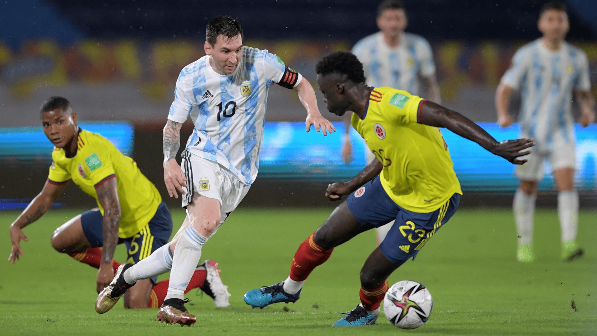 Argentina no supo cerrar el partido y Colombia lo empató en el final